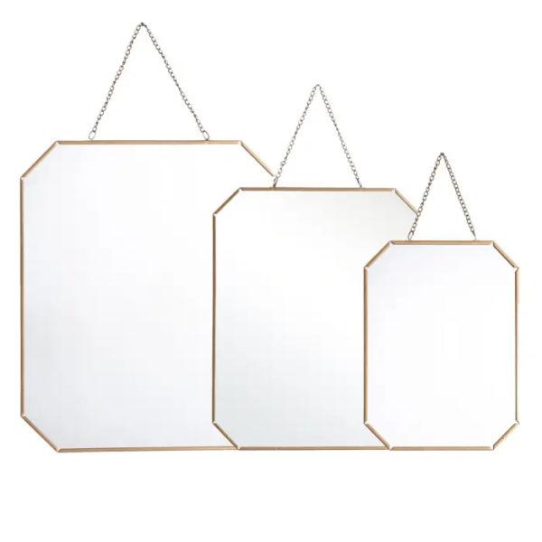 Espejo Math – Ixia – cristal y dorado – metal – interiorismo – Liderlamp (1)