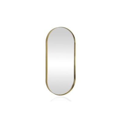 Espejo Ovum - Espejo ovalado - metal dorado - Andrea House - Liderlamp