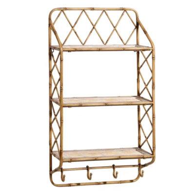 Estanteria Bodoni - baldas de bambu - almacenaje de pared - Ixia - Liderlamp (1)