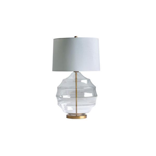Sobremesa Saigon – cristal – hierro – lino – estilo clasico – Vical Home – Liderlamp