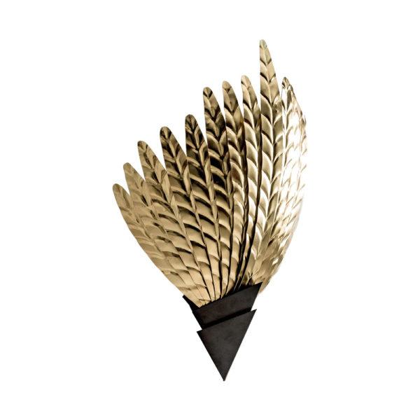 Aplique Giacomo – plumas – negro dorado – metal – Vical Home – Liderlamp (1)