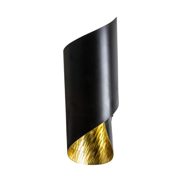 Aplique Unda – Art Deco – hierro – negro y dorado – Vical – Liderlamp (1)