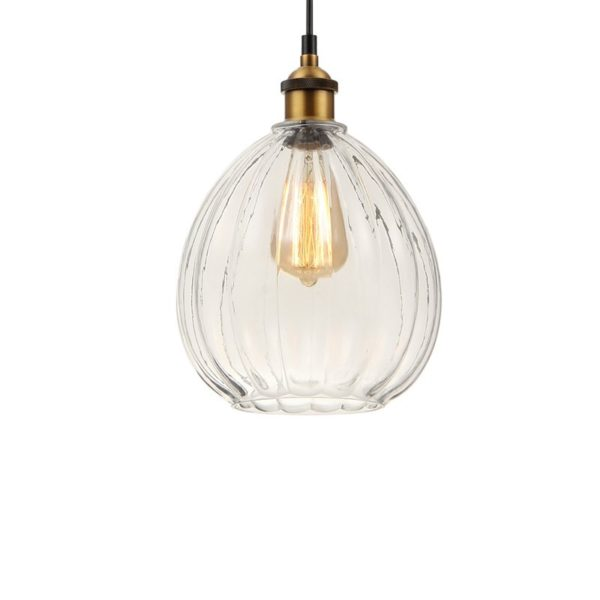 Colgante Melifera – tulipa de cristal transparente – Eskriss- Liderlamp