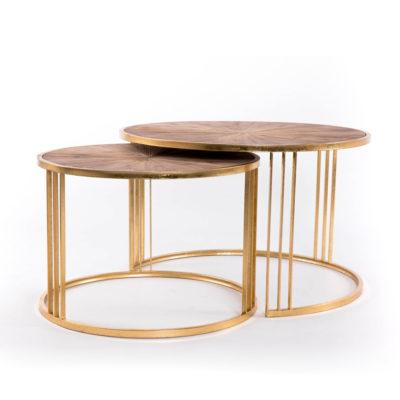 Mesas nido Fritz - Gajisa - mesa de centro - Art Deco - Liderlamp (1)
