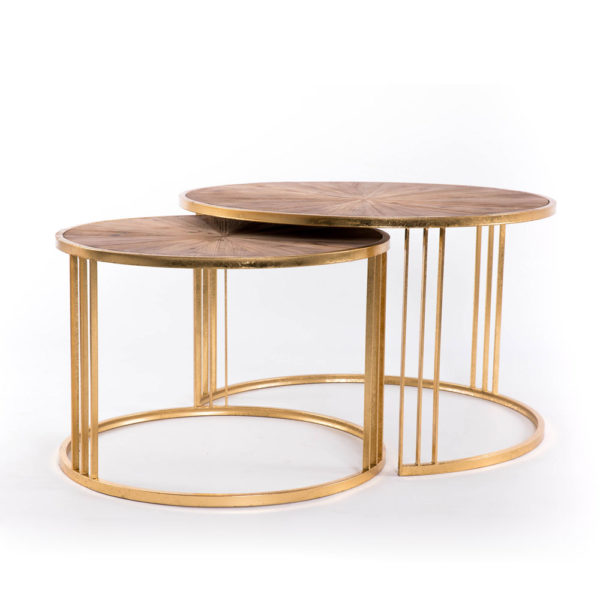 Mesas nido Fritz – Gajisa – mesa de centro – Art Deco – Liderlamp (1)