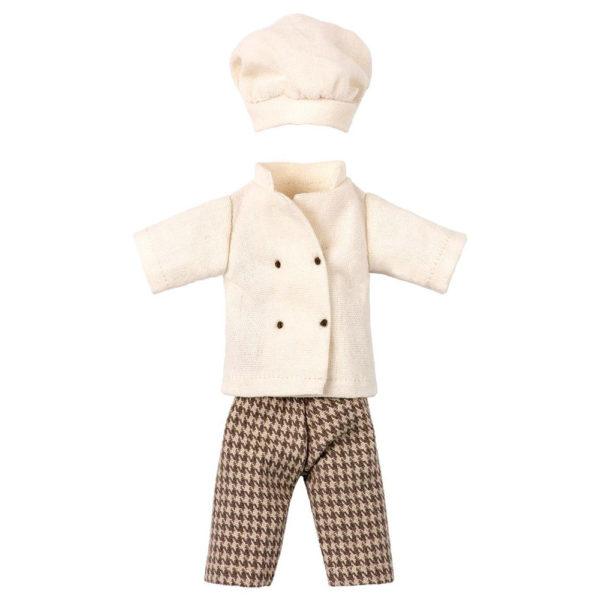 Uniforme Chef - Maileg - juguetes tradicionales - camiseta de rayas - Liderlamp