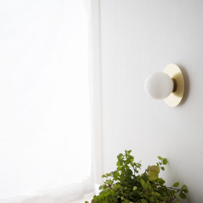 Aplique Anita 12 - estilo Mid Century - laton - tulipa de cristal - Liderlamp (1)