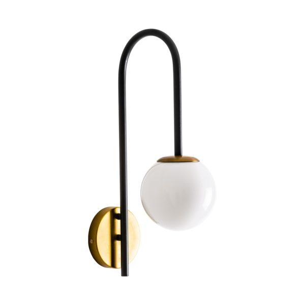 Aplique Palais – Art deco – Bola – cristal opal – Vical Home – Liderlamp (2)