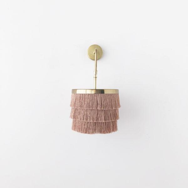 Aplique Zarzuela - lampara flecos - dorado - cable trenzado- Liderlamp (2)
