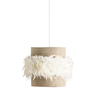 Colgante Plumeti - lampara de yute - plumas blancas - Vical Home - Liderlamp (1)