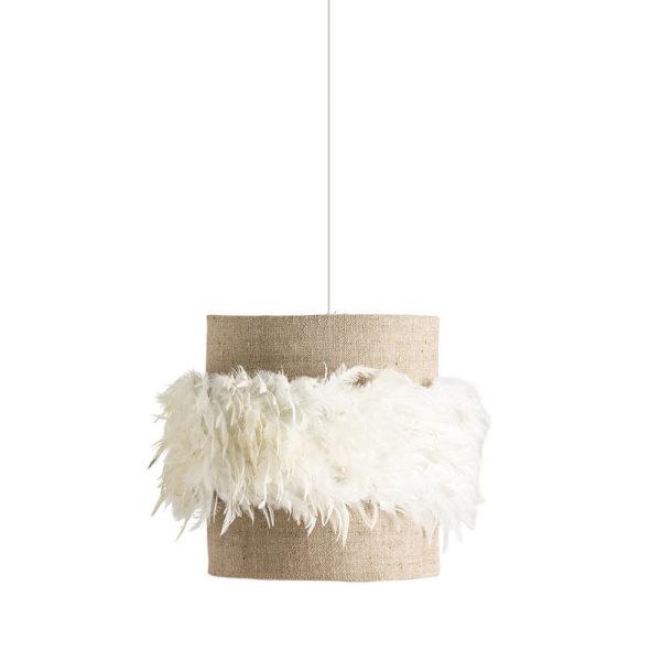 Colgante Plumeti – lampara de yute – plumas blancas – Vical Home – Liderlamp (3)