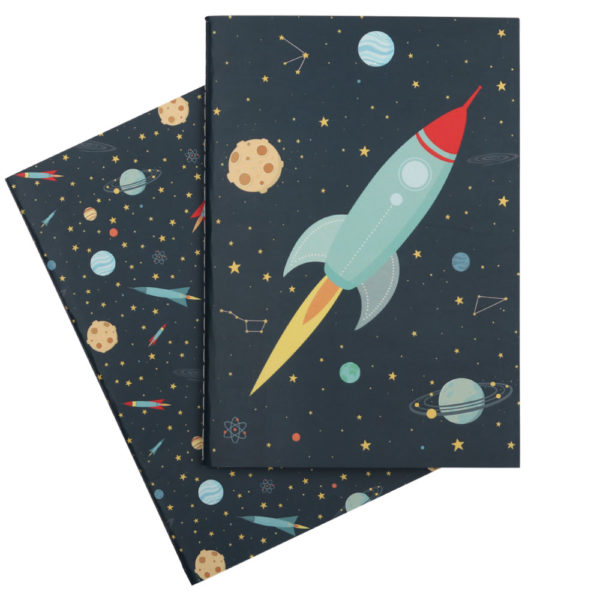 Cuadernos A5 – Space – ilustracion espacio – A little lovely company – Liderlamp (4)