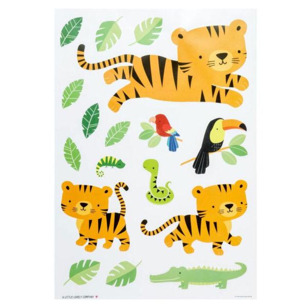 Pegatinas pared - Jungle Tiger - vinilos - A little lovely company - Liderlamp (1)
