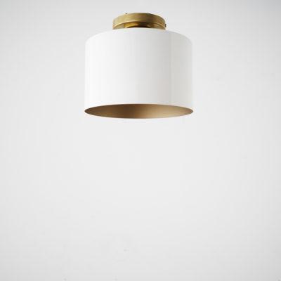 Plafon Amaia - pantalla circular - interior dorado - base laton - Liderlamp (1)