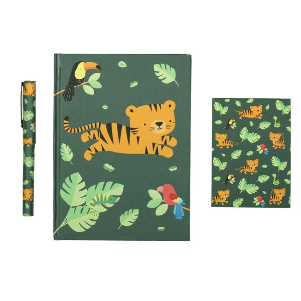Set papeleria - Jungle Tiger - cuaderno - boligrafo - A little lovely company - Liderlamp (1)