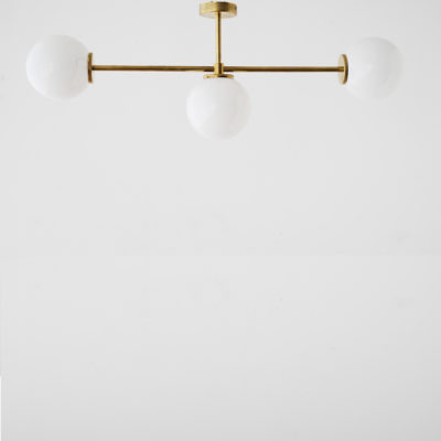 Plafon Bohemia - 3 luces - Mid Century - tulipas cristal - Esferas - Liderlamp