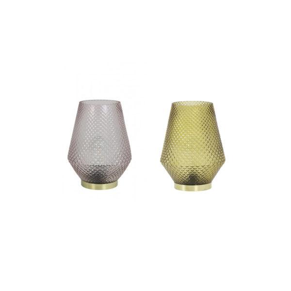 Sobremesa Tovi LED – cristal tallado – relieve – lampara de mesa – Liderlamp (1)