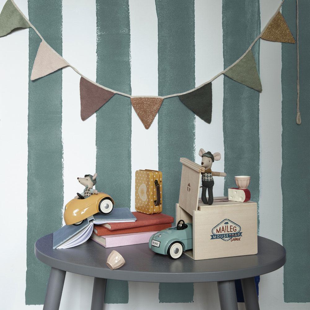 Coche y garaje vintage Maileg - juguete de madera y metal - ratones - regalo ninos - Liderlamp