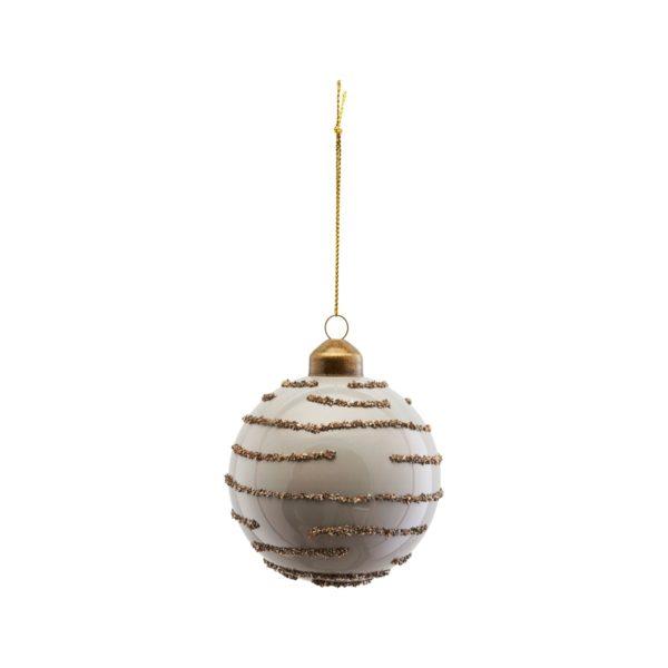 Bola de Navidad con glitter dorado – arbol de Navidad – House Doctor – Liderlamp (1)