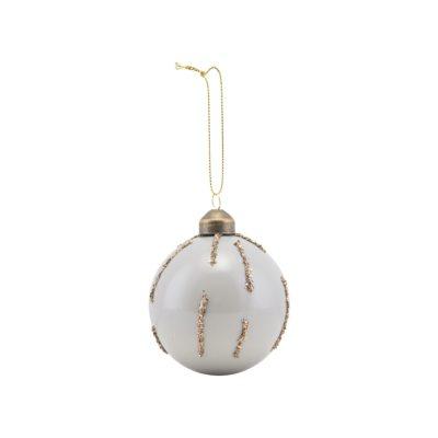 Bola de Navidad con glitter dorado - árbol de Navidad - House Doctor