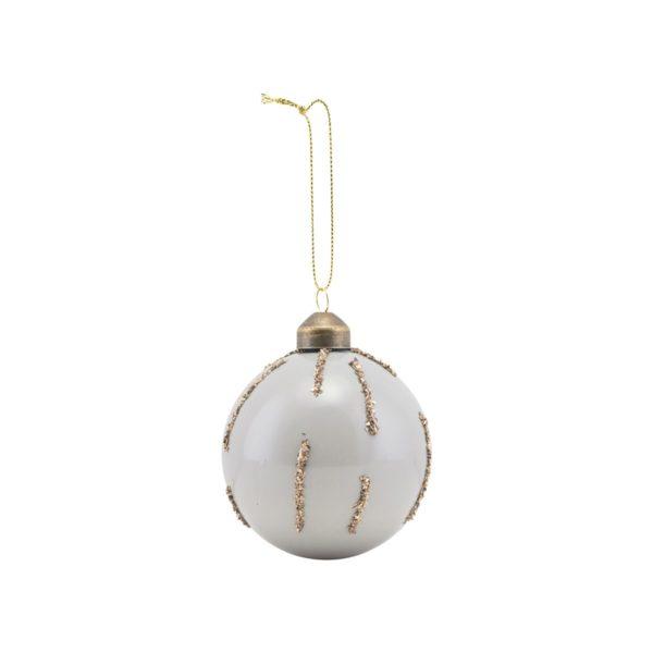 Bola de Navidad con glitter dorado – arbol de Navidad – House Doctor – Liderlamp (2)