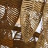 Colgante Madreselva - metal dorado retro - Ixia - hojas colgantes - Liderlamp (1)