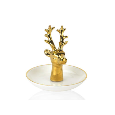 Organizador de joyas - Ciervo - Andrea House - Joyero - Ceramica - Liderlamp