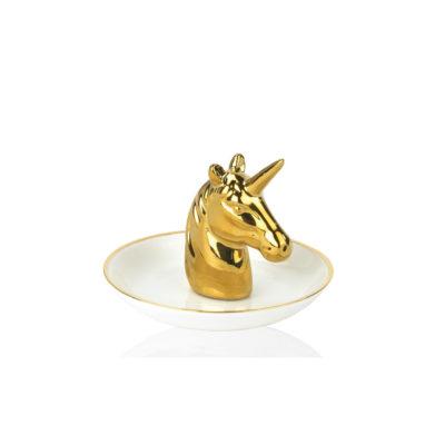 Organizador de joyas - Unicornio - Andrea House - Joyero - Ceramica - Liderlamp