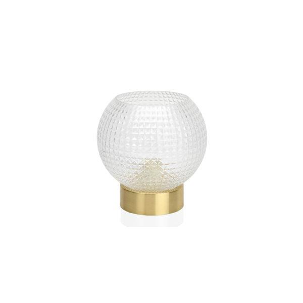 Sobremesa Diamond – Luz dormitorio – cristal y laton – Andrea House – Liderlamp (1)