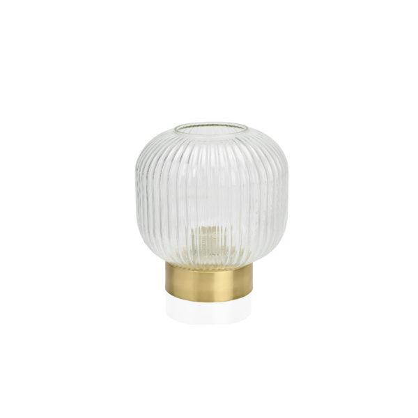 Sobremesa Stripes - Cristal y latón - luz recibidor - Andrea House