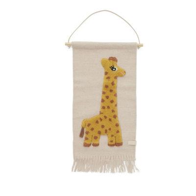 Tapiz jirafa - decoración infantil - textiles - animales selva - OYOY - Liderlamp (1)