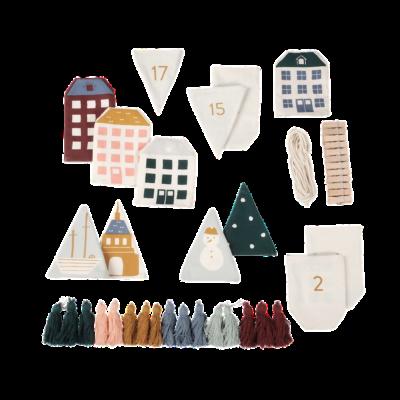 Calendario Adviento - In Copenhagen - Fabelab - Navidad - casitas