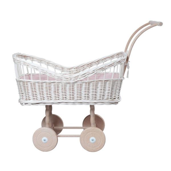 Carrito de muñecas de mimbre – Fabelab – juguetes clásicos – Liderlamp (1)