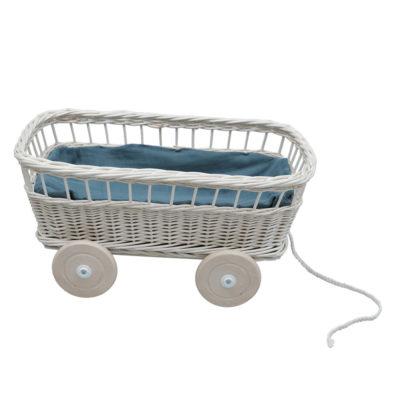 Vagon de arrastre de mimbre - Fabelab - juguetes clasicos - retro - Liderlamp