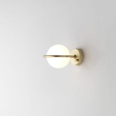 Aplique Abbacus - Aromas del campo - cristal opal - esfera - Liderlamp