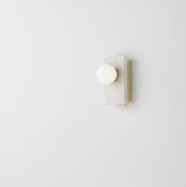 Aplique Lan – Aromas del campo – marmol – dorado – interruptor – Liderlamp