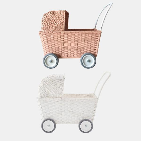 Carrito de ratan – Juego infantil – Juguetes tradicionales – Olli Ella – Liderlamp (1)