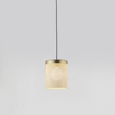 Colgante Stan - rejilla de ratan - Arormas del Campo - luz de techo - Liderlamp