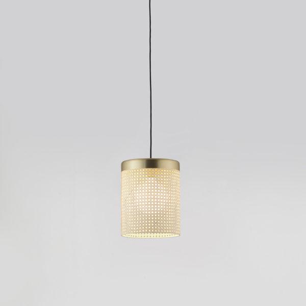 Colgante Stan – rejilla de ratan – Arormas del Campo – luz de techo – Liderlamp