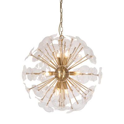 Lampara Correhuela - flor - hierro y vidrio - Vical Home - Liderlamp