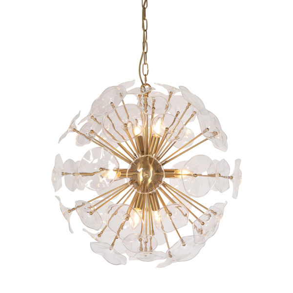 Lampara Correhuela – flor – hierro y vidrio – Vical Home – Liderlamp