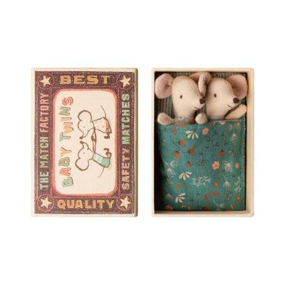 Mellizos - Baby - Caja de cerillas - Maileg - ratones - juguetes tradicionales - Liderlamp (1)