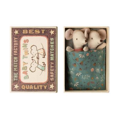 Mellizos - Baby - Caja de cerillas - Maileg - ratones - juguetes tradicionales - Liderlamp (2)