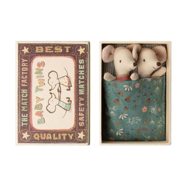 Mellizos – Baby – Caja de cerillas – Maileg – ratones – juguetes tradicionales – Liderlamp (2)