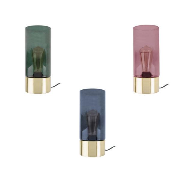 Sobremesa Lax – Present Time – Cristal y latón – lampara de techo – Liderlamp (1)