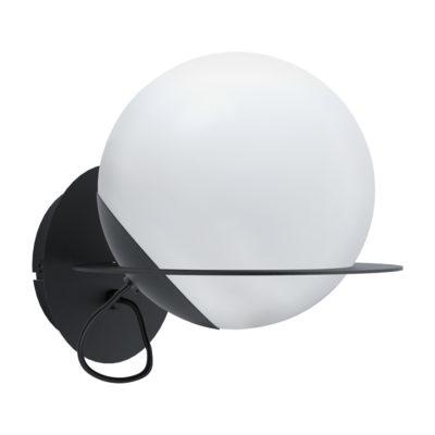 Aplique Astere - lampara de pared negro - decoracion espacio - Eglo - Liderlamp
