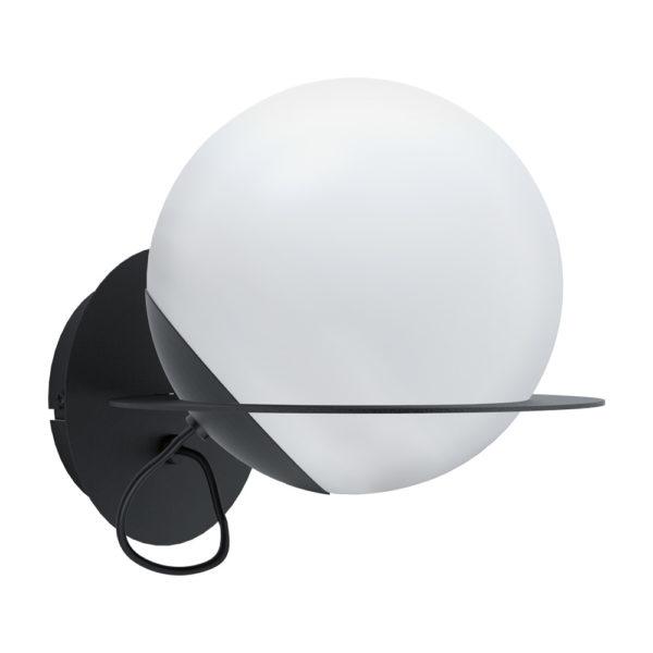 Aplique Astere – lampara de pared negro – decoracion espacio – Eglo – Liderlamp