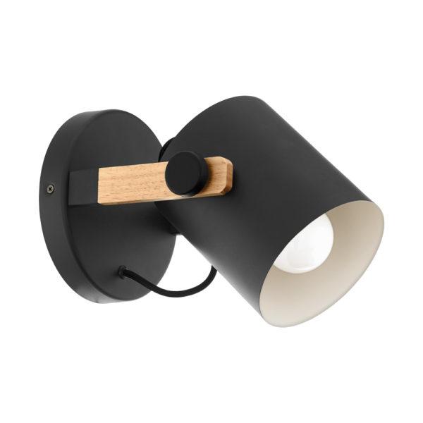 Aplique Elmut - acero y madera - foco de pared - Eglo - Liderlamp