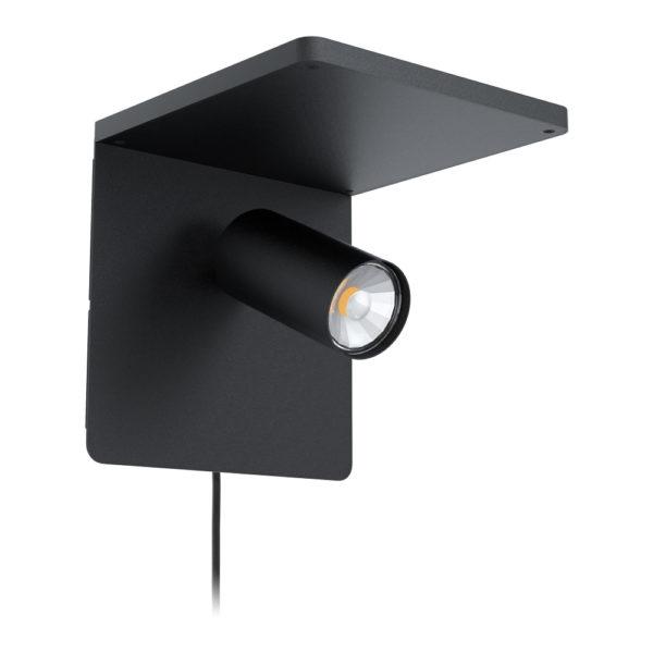 Aplique Keller – acero negro – foco – luz auxiliar – EGLO – Liderlamp – Liderlamp