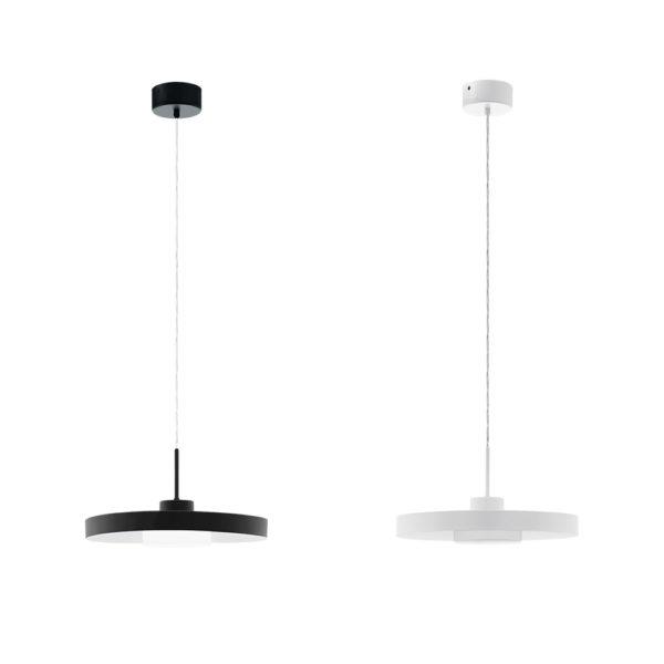 Colgante Rito – blanco y negro – diseno circular – minimalismo – EGLO- Liderlamp (1)